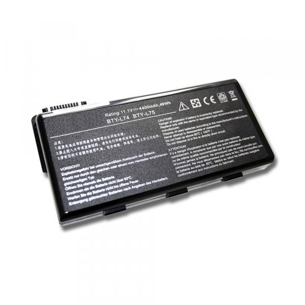 Batterie BTY-L74 pour ordinateur MSI - 4400 mAh