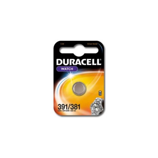 Pile de montre 391/381 DURACELL - Blister de 1 - SR1120SW - Oxyde d'argent