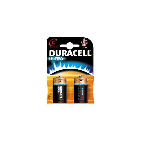 Piles LR14 Ultra DURACELL - Blister de 2 - MN1400 - Alcaline