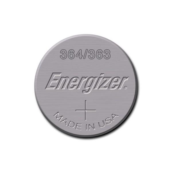 Pile de montre 364/363 ENERGIZER - Blister de 1 - SR621SW - Oxyde d'argent