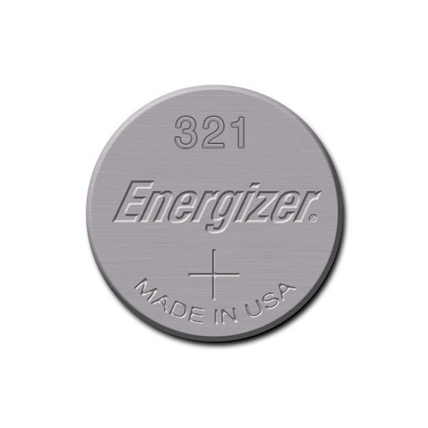 Pile de montre 321 ENERGIZER - Blister de 1 - SR65 - Oxyde d'argent