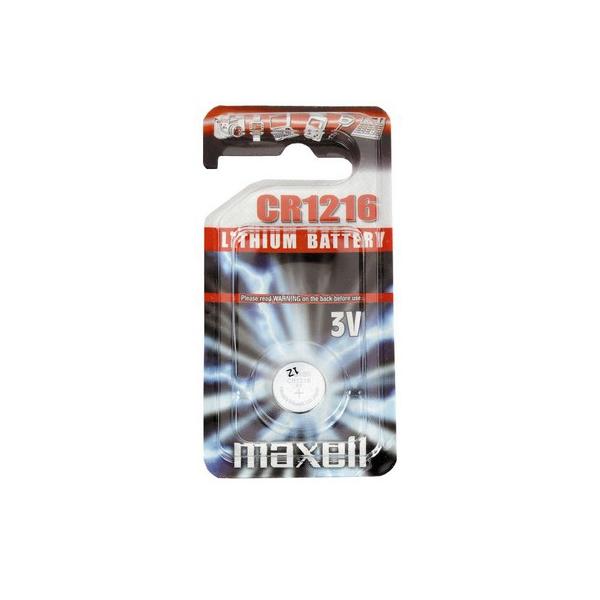 Pile électronique CR1216 MAXELL - Blister de 1 - Lithium 3V