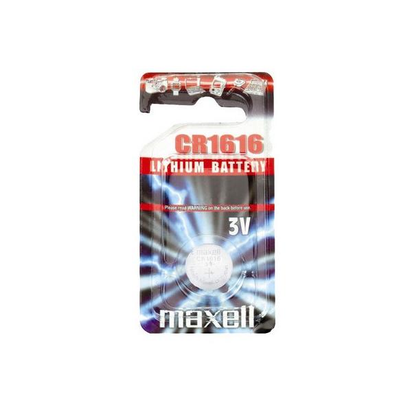 Pile électronique CR1616 MAXELL - Blister de 1 - Lithium 3V