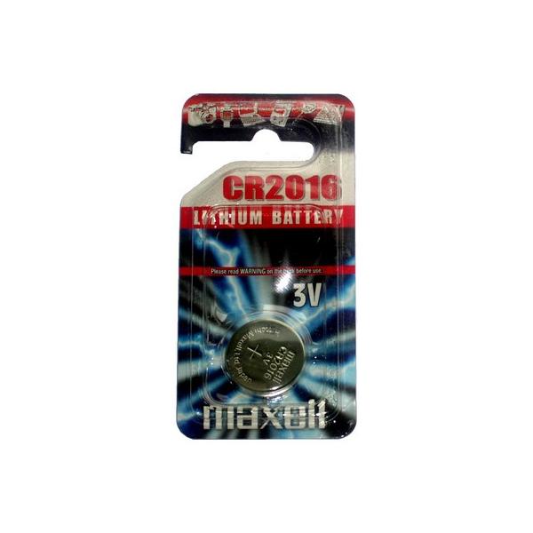 Pile électronique CR2016 MAXELL - Blister de 1 - Lithium 3V