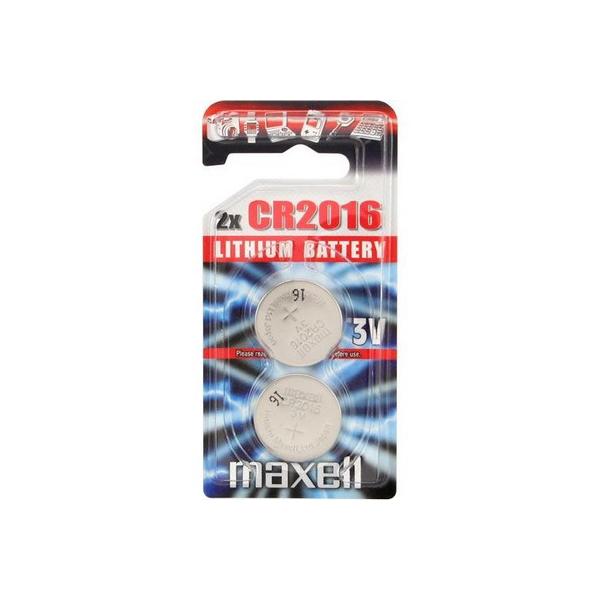 Piles électroniques CR2016 MAXELL - Blister de 2 - Lithium 3V