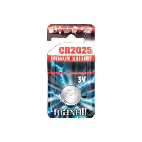 Pile électronique CR2025 MAXELL - Blister de 1 - Lithium 3V