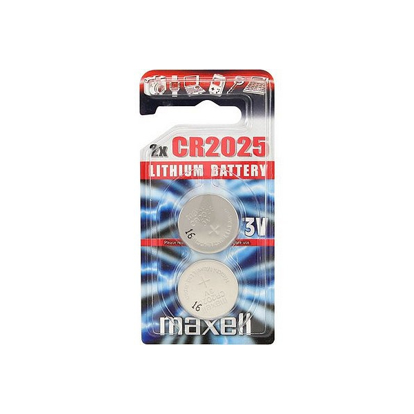 Piles électroniques CR2025 MAXELL - Blister de 2 - Lithium 3V