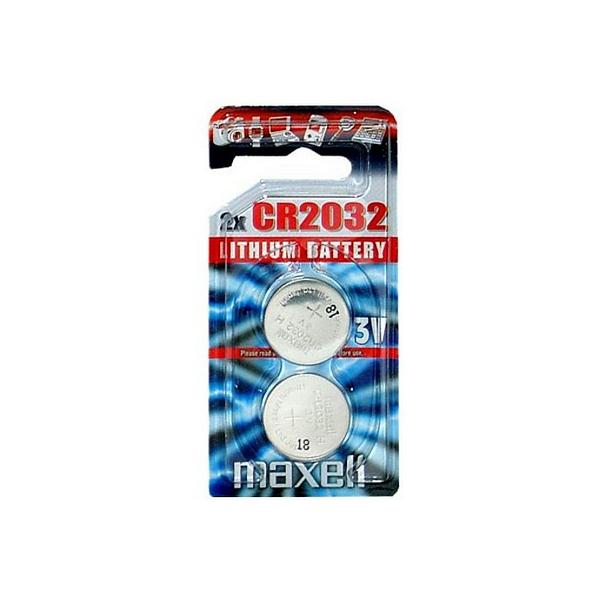 Piles électroniques CR2032 MAXELL - Blister de 2 - Lithium 3V