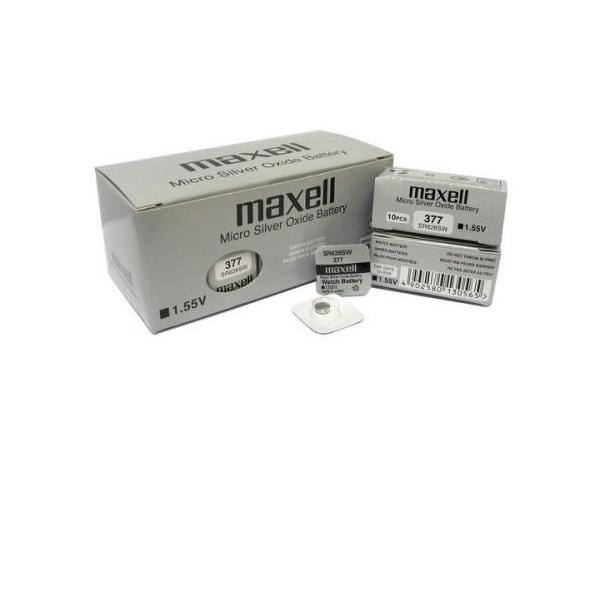 Pile de montre 377 MAXELL - Blister de 1