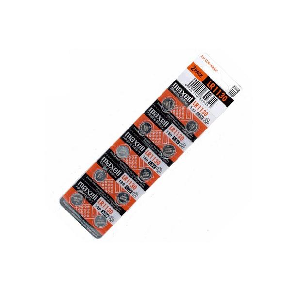 Piles LR1130 MAXELL - Blister de 10