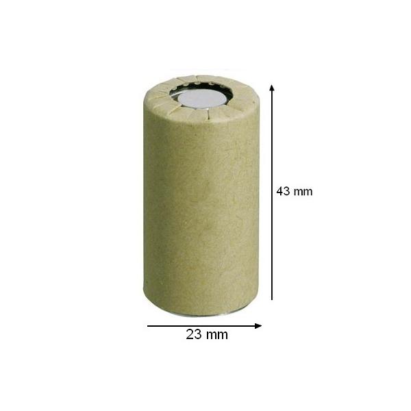 Accu industriel Sub C SANYO - KR23 - Ni-Cd - 2,5 Ah