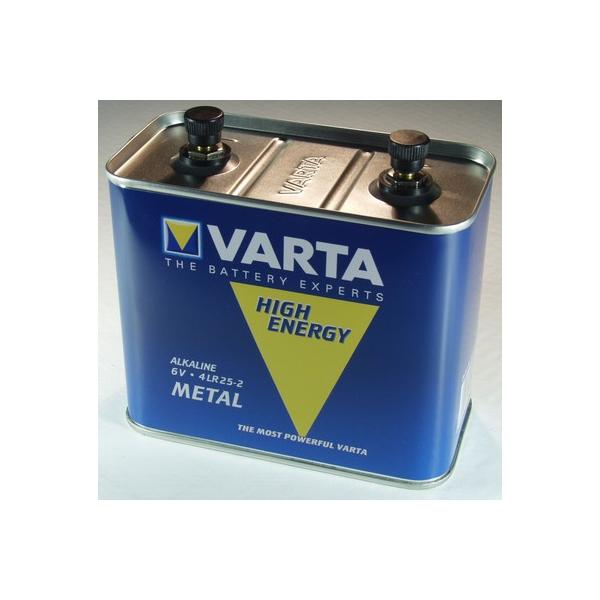 Pile 4LR25/2 metal VARTA - Blister de 1 - Alcaline