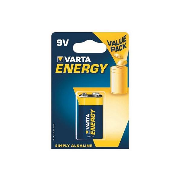 Pile 6LR61 Energy VARTA - Blister  de 1 - Alcaline