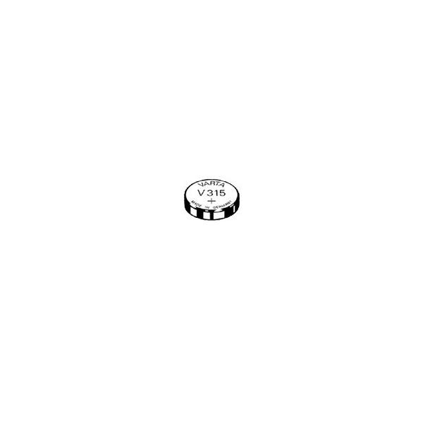 Pile de montre V315 VARTA - Blister de 1 - SR67 - Oxyde d'argent