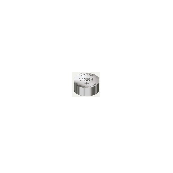 Pile de montre V364 VARTA - Blister de 1 - SR60 - Oxyde d'argent