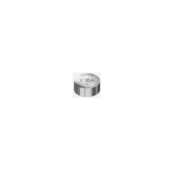 Piles de montre V364 VARTA - Boite de 10 - SR60 - Oxyde d'argent