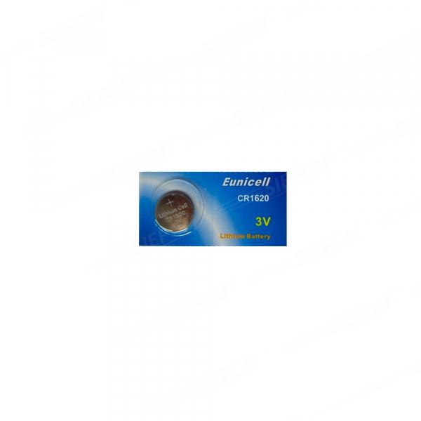 Pile électronique CR1620 EUNICELL - Blister de 1 - Lithium 3V