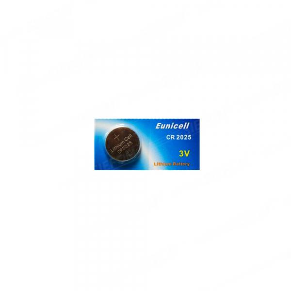 Pile électronique CR2025 EUNICELL - Blister de 1 - Lithium 3V