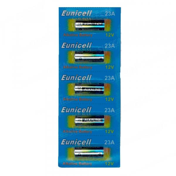 Piles 23A EUNICELL - Blister de 5 - Alcaline 12V