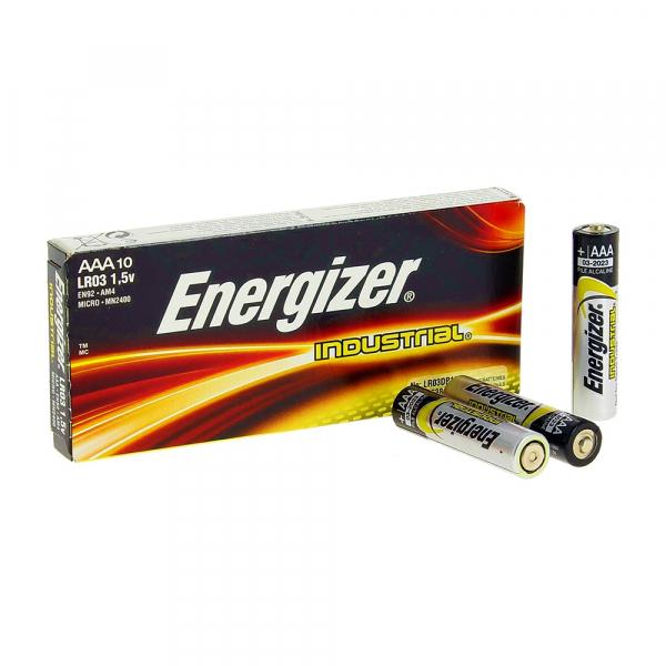 Piles industrielles LR03 ENERGIZER - Boite de 10 -  AAA / EN92