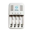 Chargeur NiZn-NiMh - 4 piles AA ou AAA - Blanc