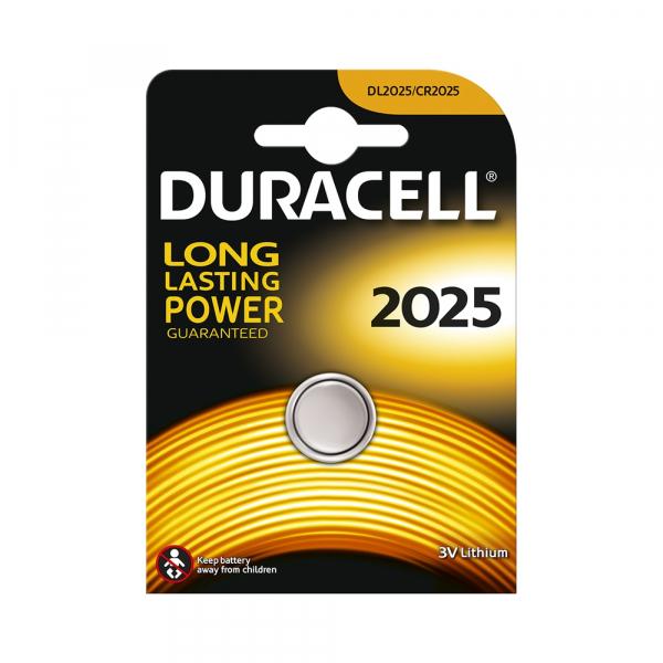 Pile électronique CR2025 DURACELL - Blister de 1 - Lithium 3V