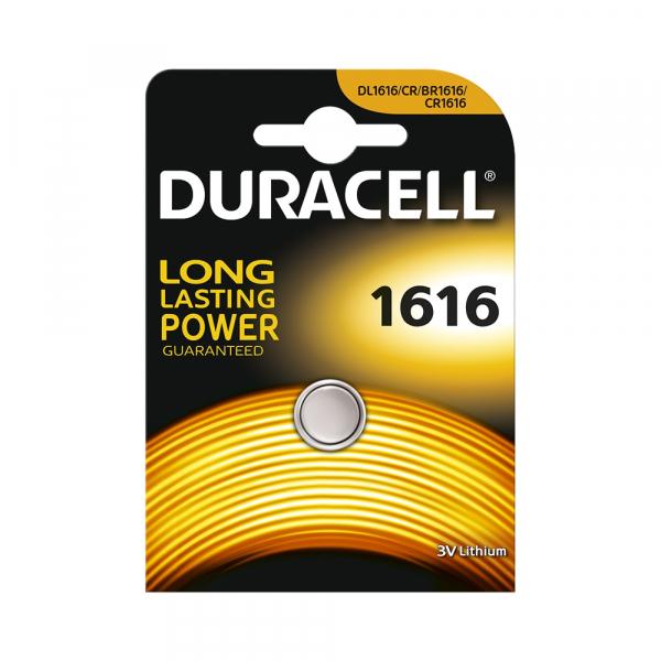 Pile électronique CR1616 DURACELL - Blister de 1 - Lithium 3V