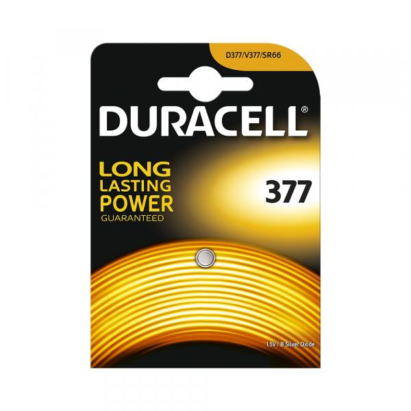 Pile de montre 376 / 377 DURACELL - Blister de 1 - SR626SW - Oxyde d'argent