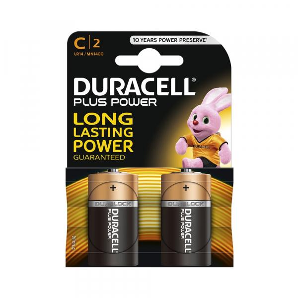 Piles LR14 Plus DURACELL - Blister de 2 - MN1400 - Alcaline