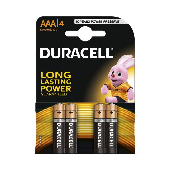 Piles LR03 Basic DURACELL - Blister de 4 - AAA - Alcaline