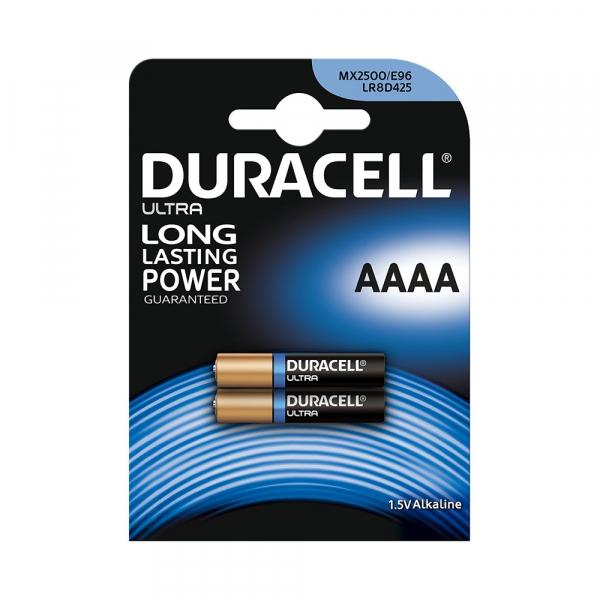 Piles LR61 Ultra DURACELL - Blister de 2 - AAAA