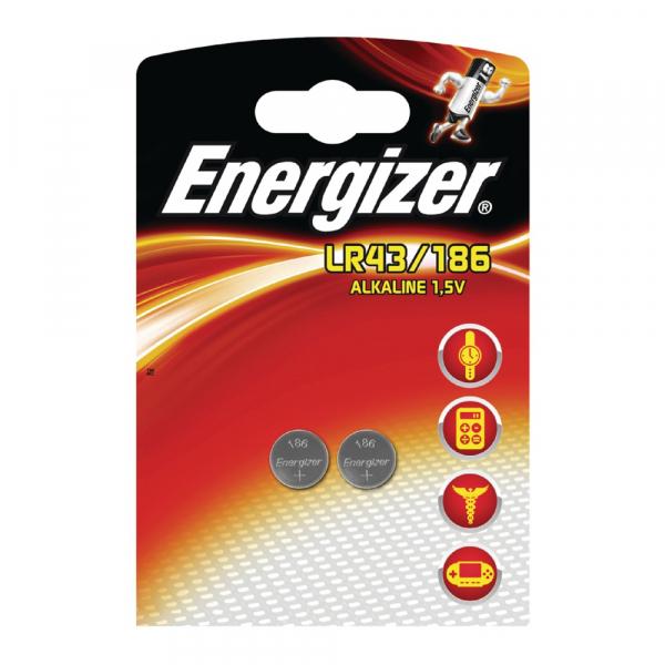 Piles LR43 ENERGIZER - Blister de 2 - AG12 - 1,5V