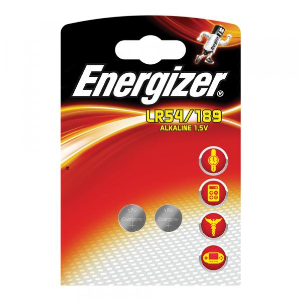 Piles LR54 ENERGIZER - Blister de 2 - AG10 - 1,5V