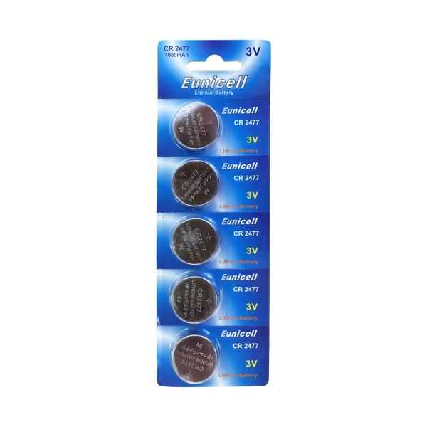 Piles CR2477 EUNICELL - Blister de 1 - Lithium 3V