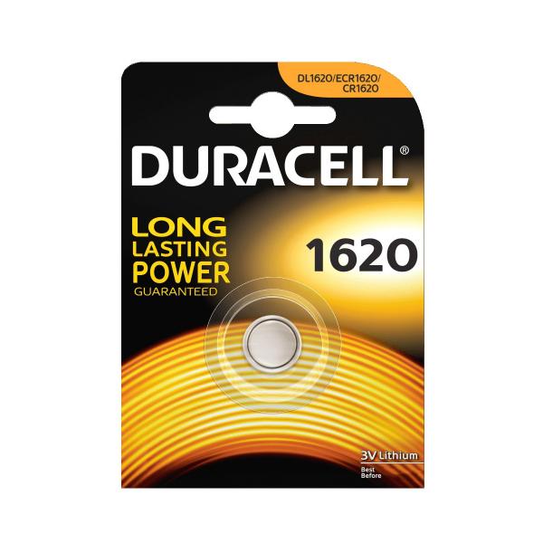 Pile électronique CR1620 DURACELL - Blister de 1 - Lithium 3V