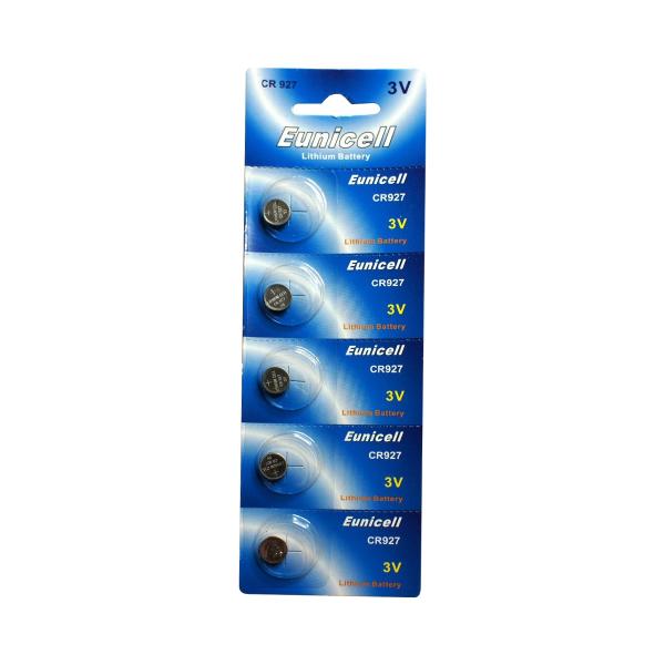 Piles électroniques CR927 EUNICELL - Blister de 5 - Lithium 3V