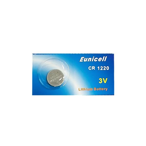 Pile électronique CR1220 EUNICELL - Blister de 1 - Lithium 3V