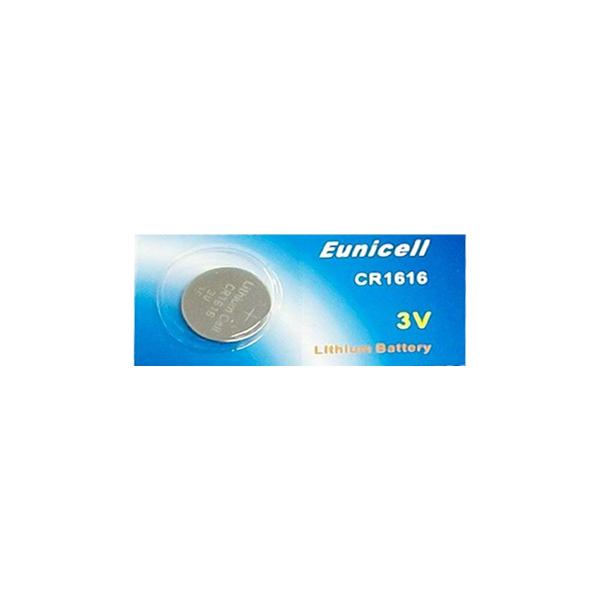 Pile électronique CR1616 EUNICELL - Blister de 1 - Lithium 3V