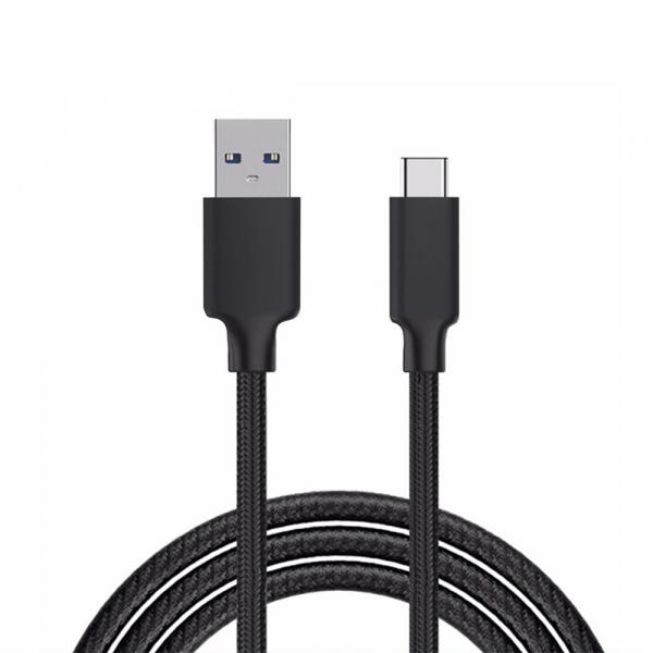 Câble USB / Type C renforcé - 1,80m - Noir