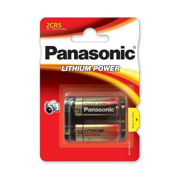 Pile photo 2CR5 PANASONIC - Blister de 1 - Lithium 3V