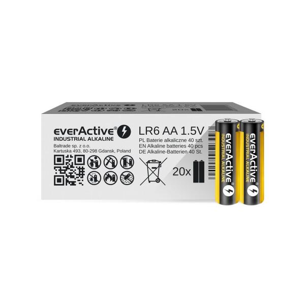 Piles industrielles LR06 EVERACTIVE - Boite de 40 - MN1500 - AA