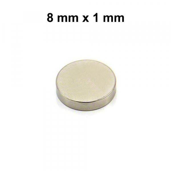 Aimant neodym - Séparateur d'accu - 8 x 1 mm