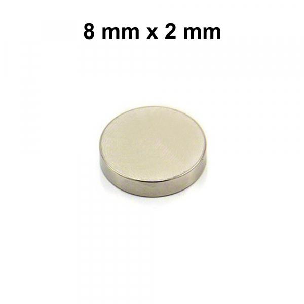 Aimant néodyme - Séparateur d'accu - 8 x 2 mm