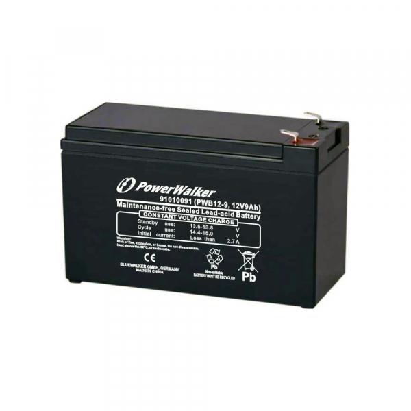 Batterie au plomb PowerWalker - 12V - 9Ah - PWB12-9
