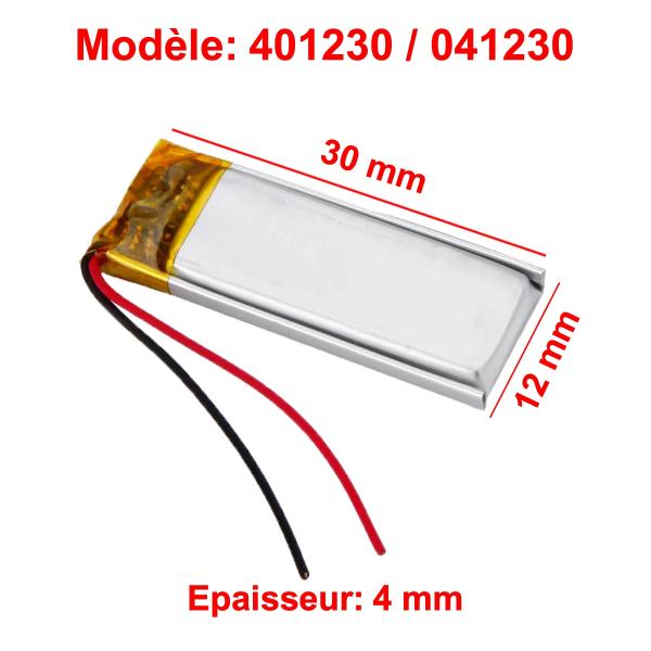 Batterie Li-Po - 3.7V - 120mAh - 401230 / 041230