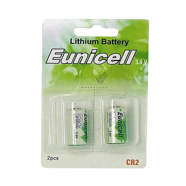 Piles photo CR2 EUNICELL - Blister de 2 - Lithium 3V