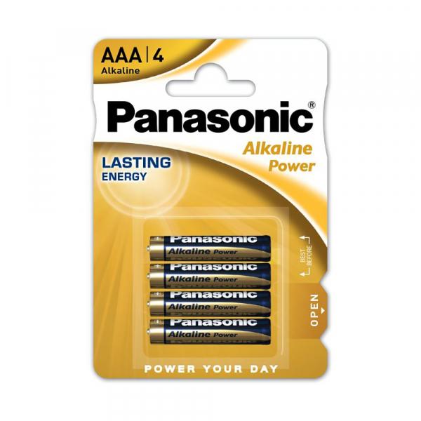 Piles LR03 Alkaline Power PANASONIC - Blister de 4 - AAA - Alcaline