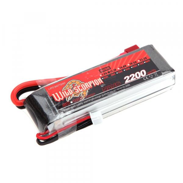 Batterie modélisme WILD SCORPION - LiPo - 11,1V - 2200 mAh - 30C