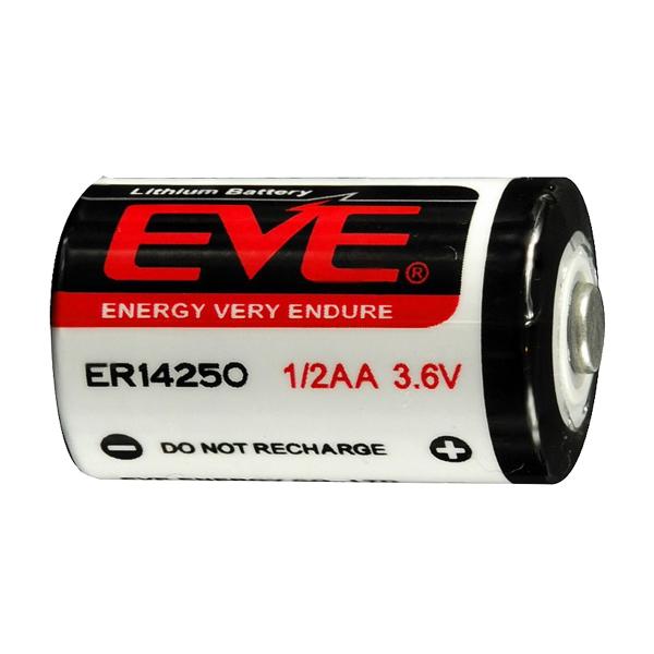 Pile ER14250 EVE - Blister de 1 - SL750 - 1/2AA - Lithium 3,6V - 1200mah