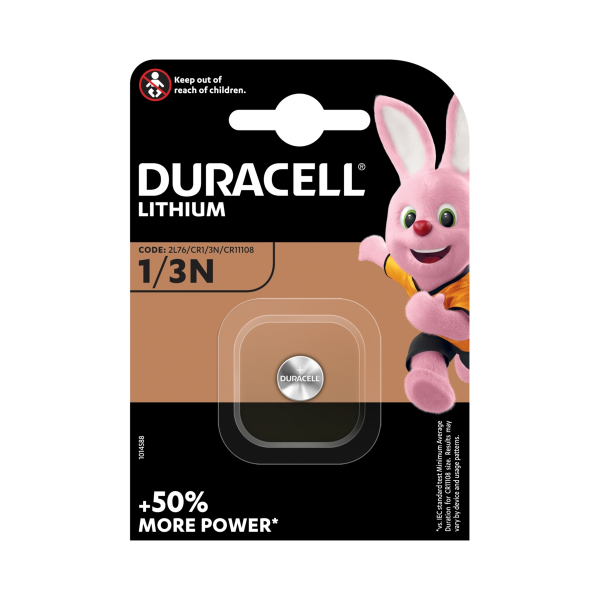 Pile électronique CR1/3N DURACELL - Blister de 1 - CR11108 - DL1/3N